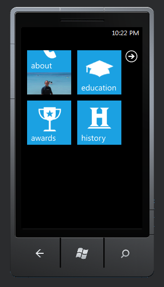 WP7 Inspired Site